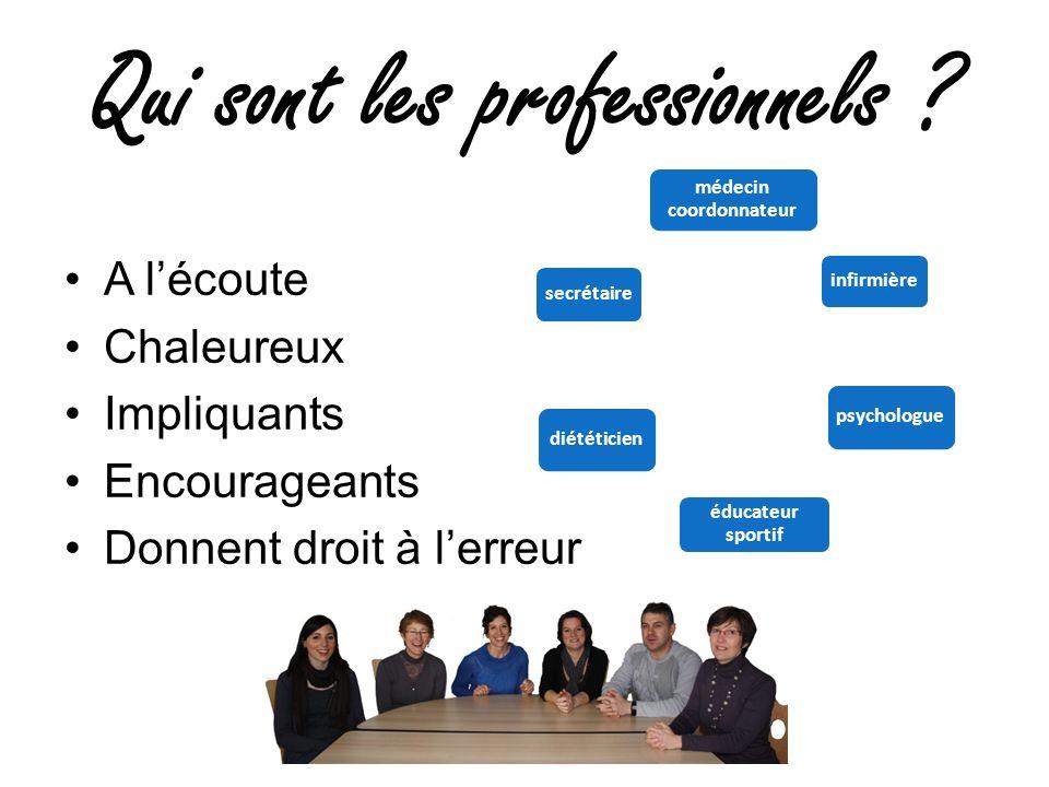 Qui sont les professionnels