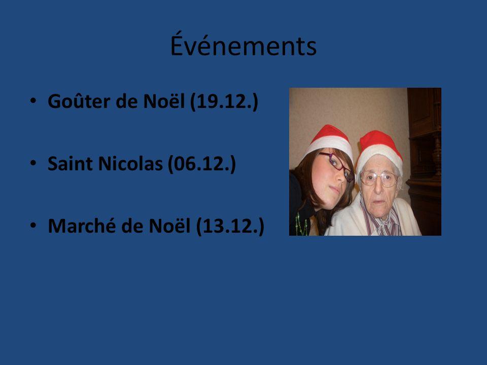 Événements Goûter de Noёl (19.12.) Saint Nicolas (06.12.)