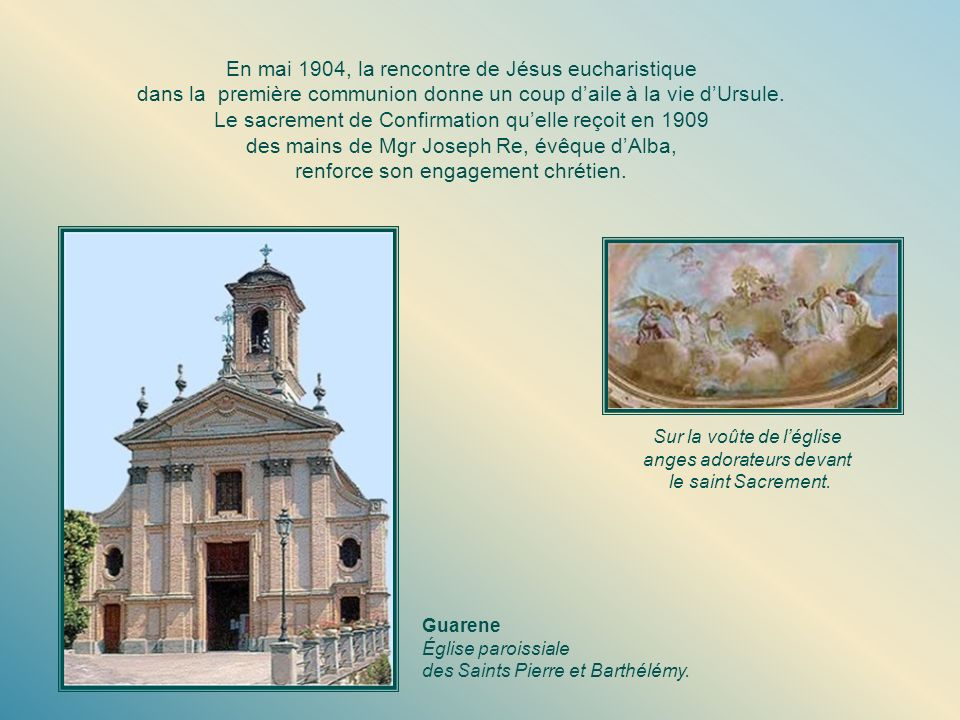 En mai 1904, la rencontre de Jésus eucharistique