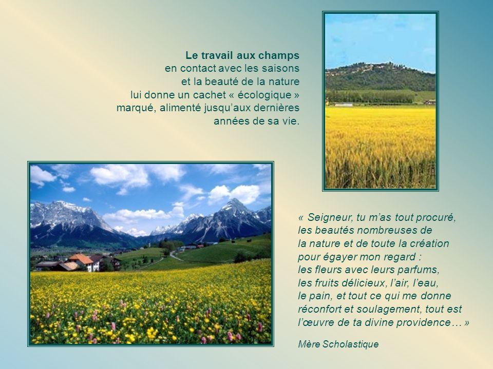 en contact avec les saisons et la beauté de la nature