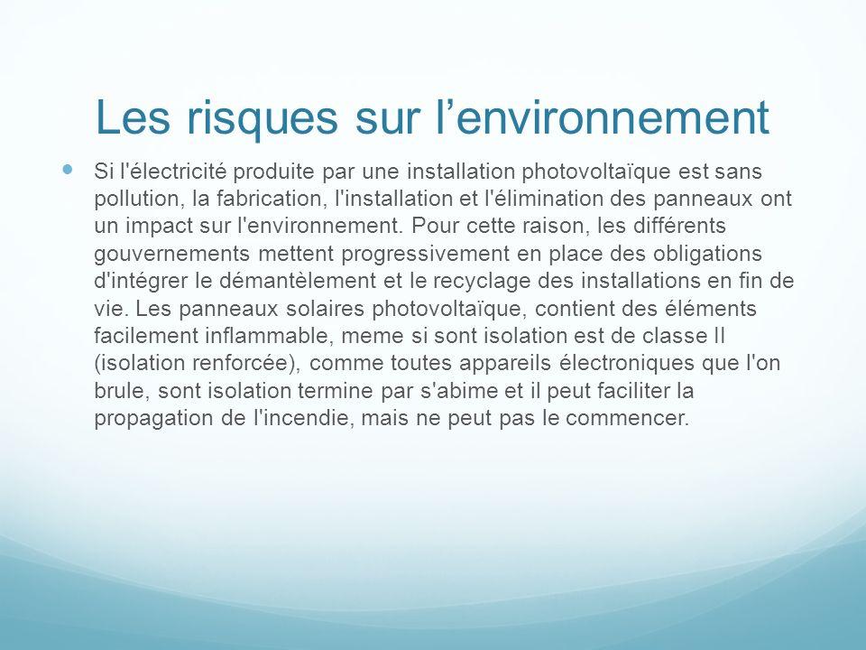 Les risques sur l'environnement