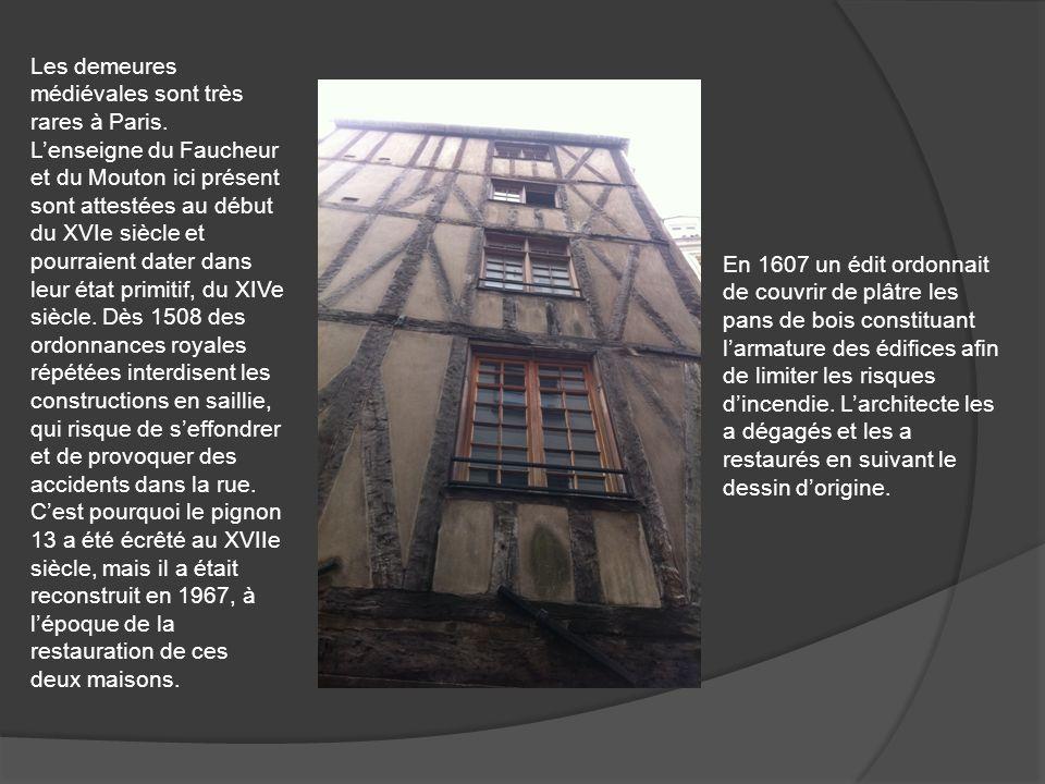 Les demeures médiévales sont très rares à Paris