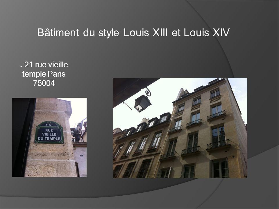 Bâtiment du style Louis XIII et Louis XIV