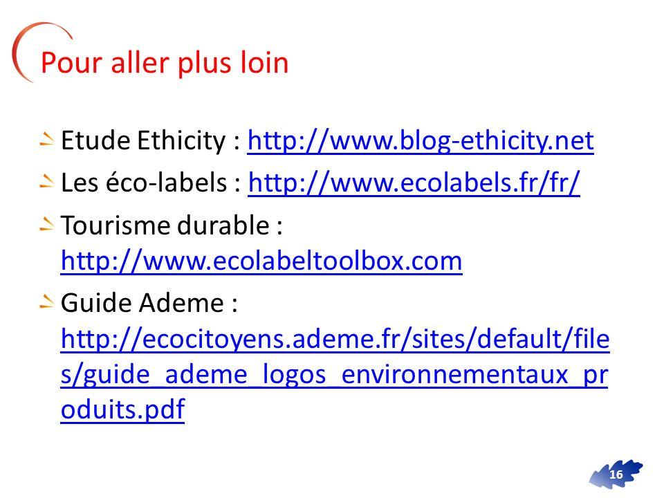 Pour aller plus loin Etude Ethicity : http://www.blog-ethicity.net