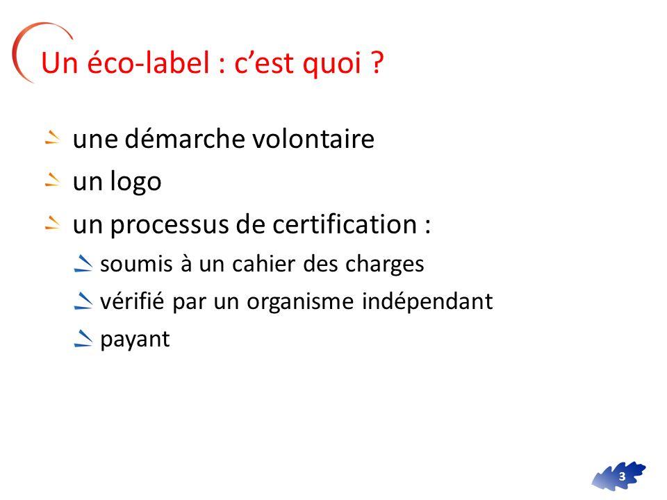 Un éco-label : c'est quoi