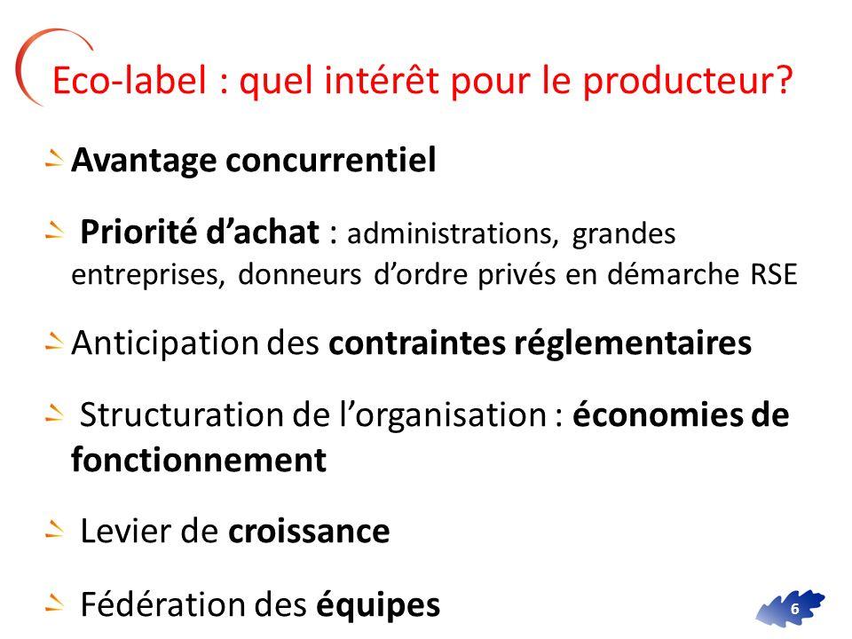 Eco-label : quel intérêt pour le producteur