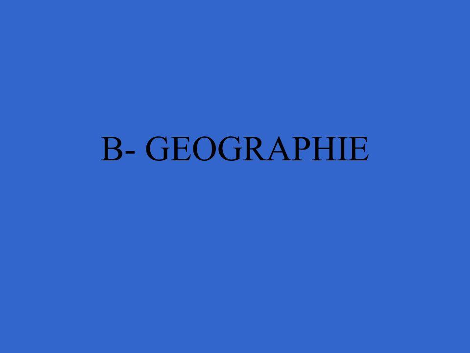 B- GEOGRAPHIE