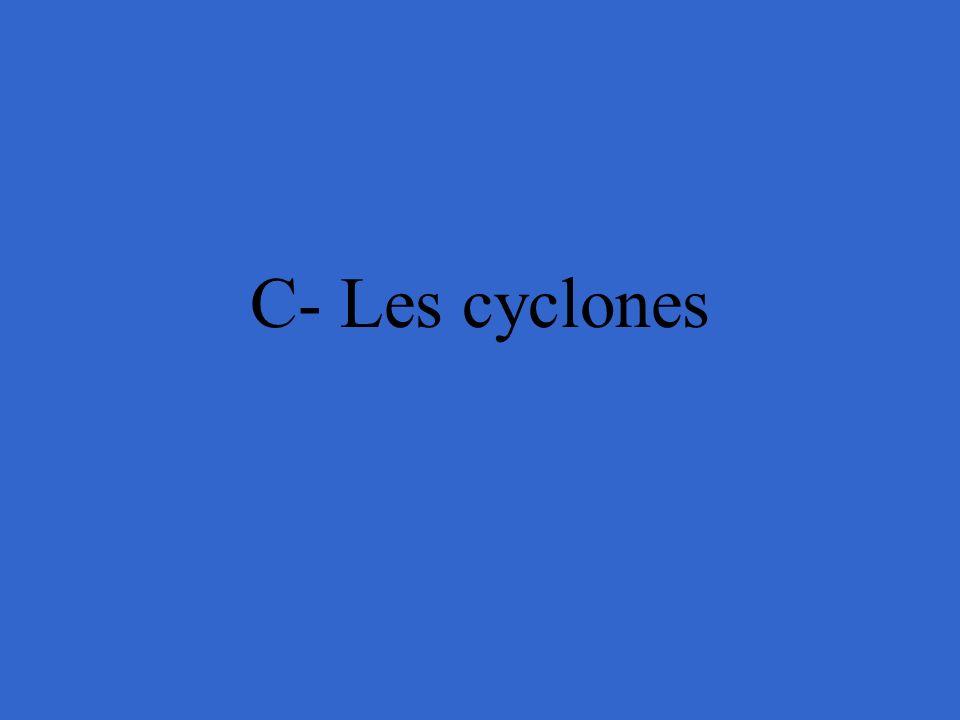 C- Les cyclones