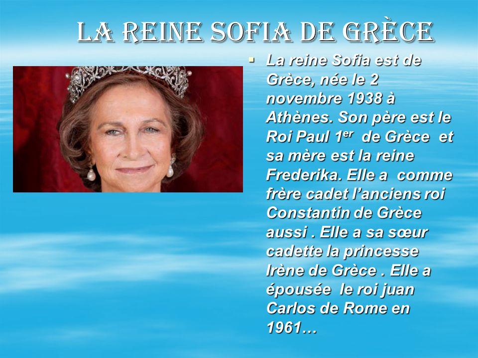 La reine Sofia de grèce
