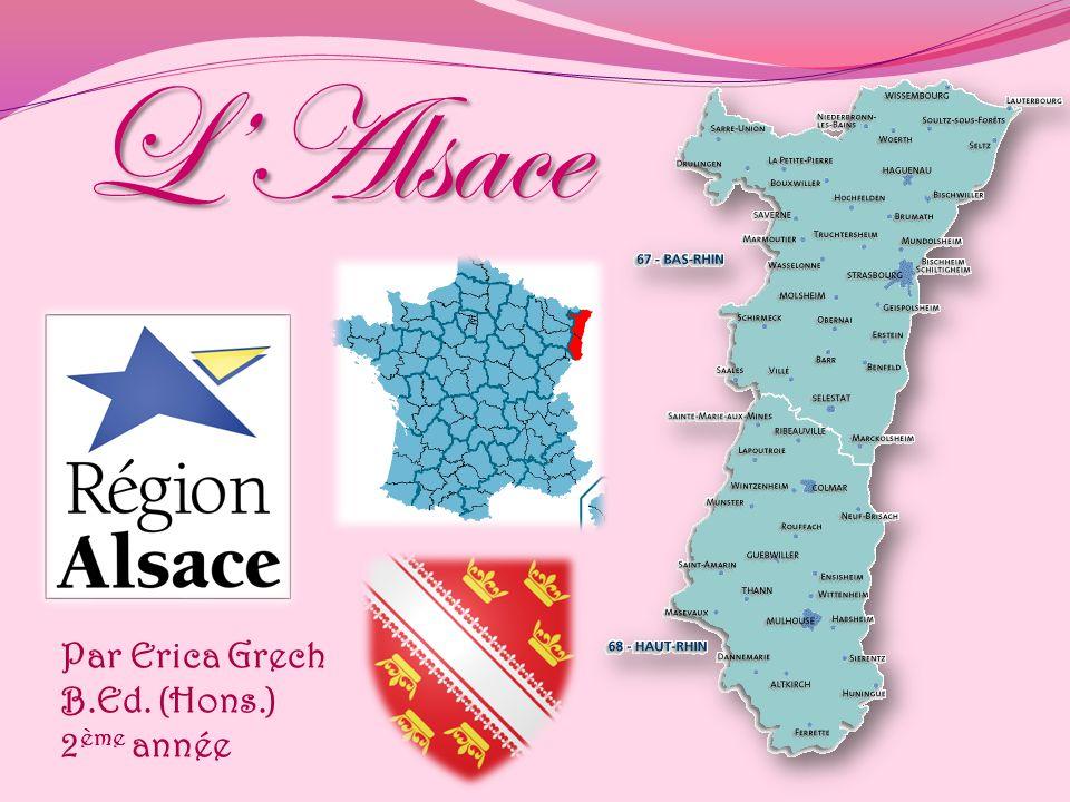 L'Alsace Par Erica Grech B.Ed. (Hons.) 2ème année