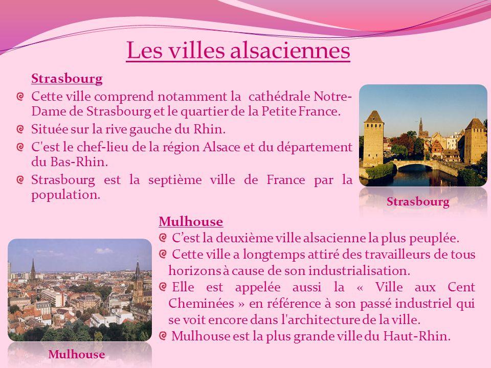Les villes alsaciennes