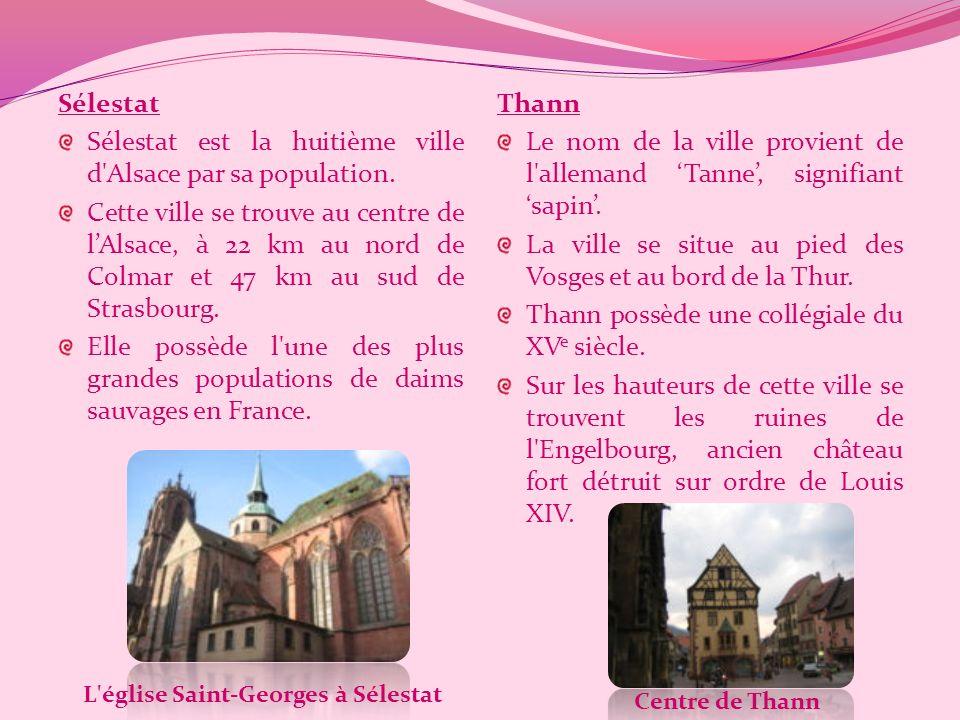 L église Saint-Georges à Sélestat