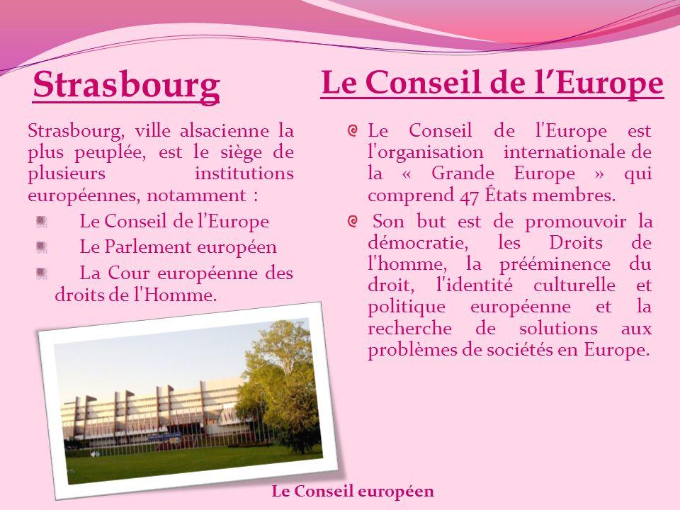 Strasbourg Le Conseil de l'Europe