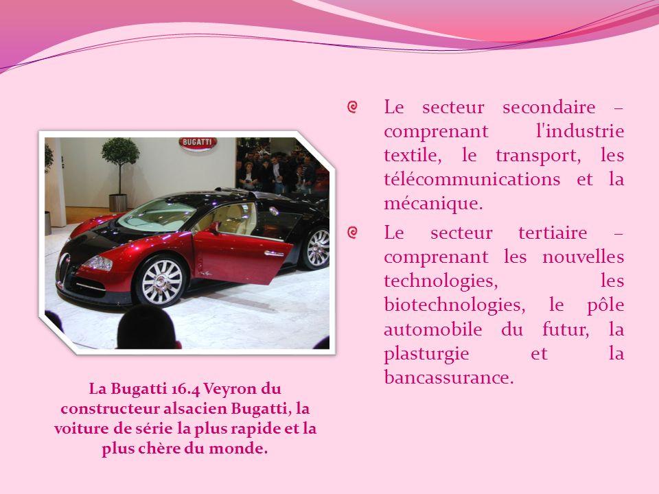 Le secteur secondaire – comprenant l industrie textile, le transport, les télécommunications et la mécanique.