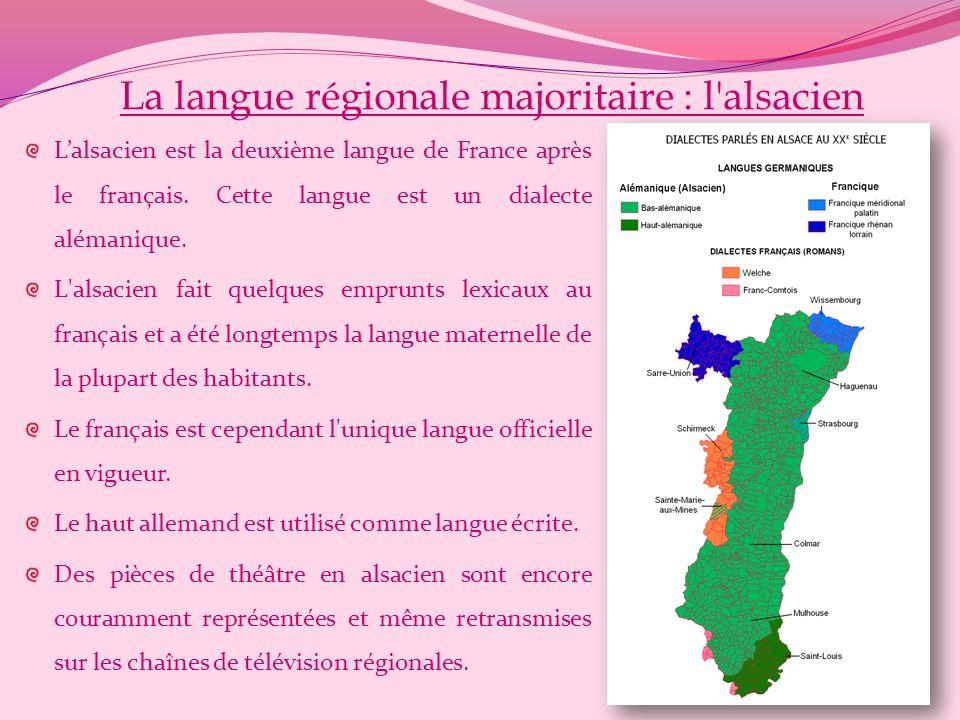 La langue régionale majoritaire : l alsacien