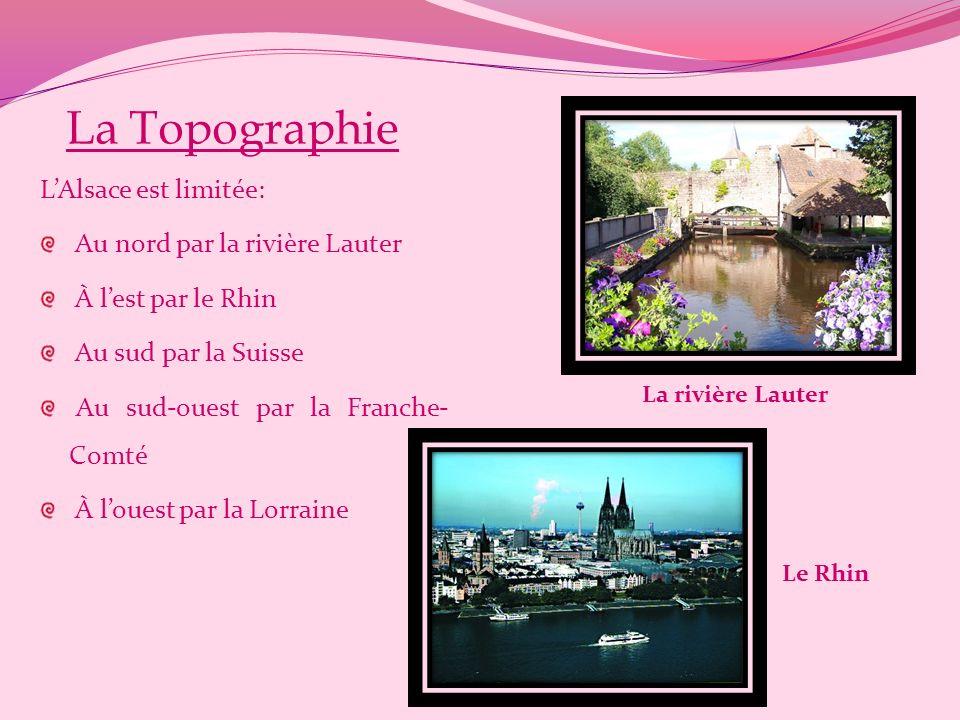 La Topographie L'Alsace est limitée: Au nord par la rivière Lauter
