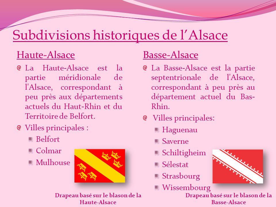 Subdivisions historiques de l'Alsace