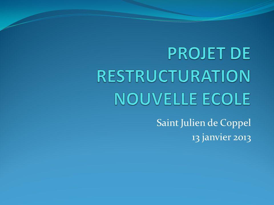 PROJET DE RESTRUCTURATION NOUVELLE ECOLE