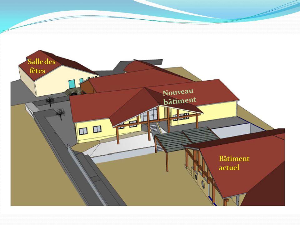 Salle des fêtes Nouveau bâtiment Bâtiment actuel