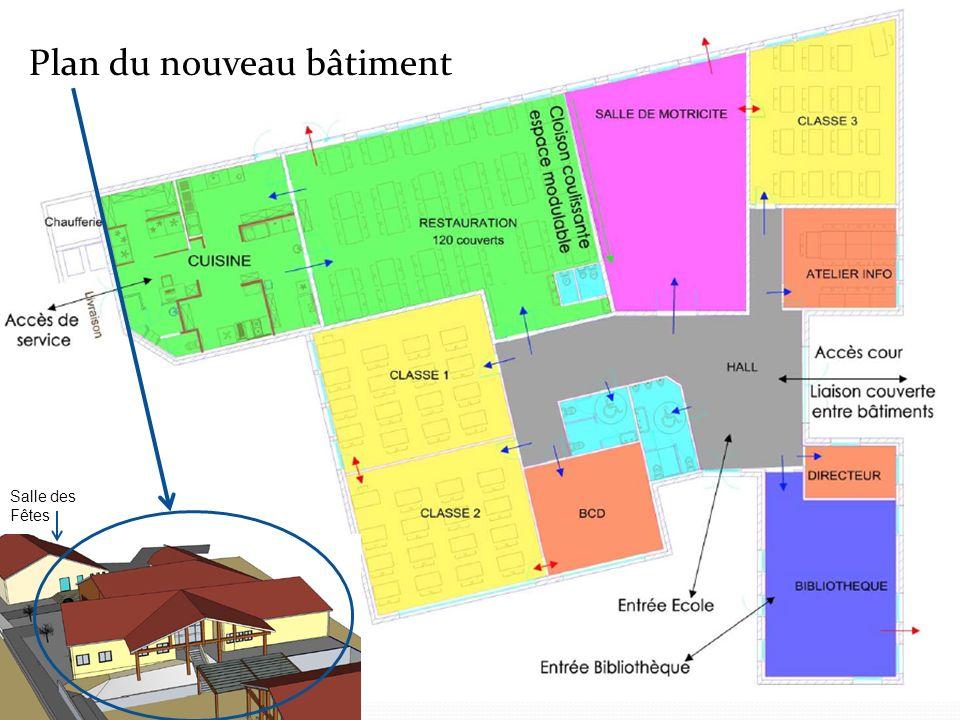 Plan du nouveau bâtiment
