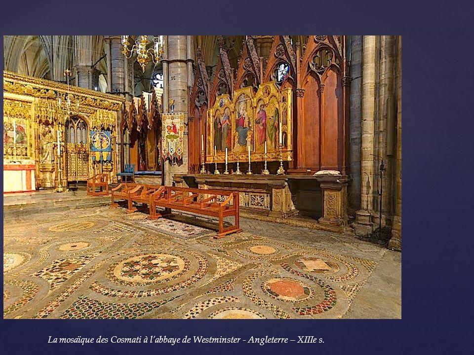 La mosaïque des Cosmati à l'abbaye de Westminster - Angleterre – XIIIe s.