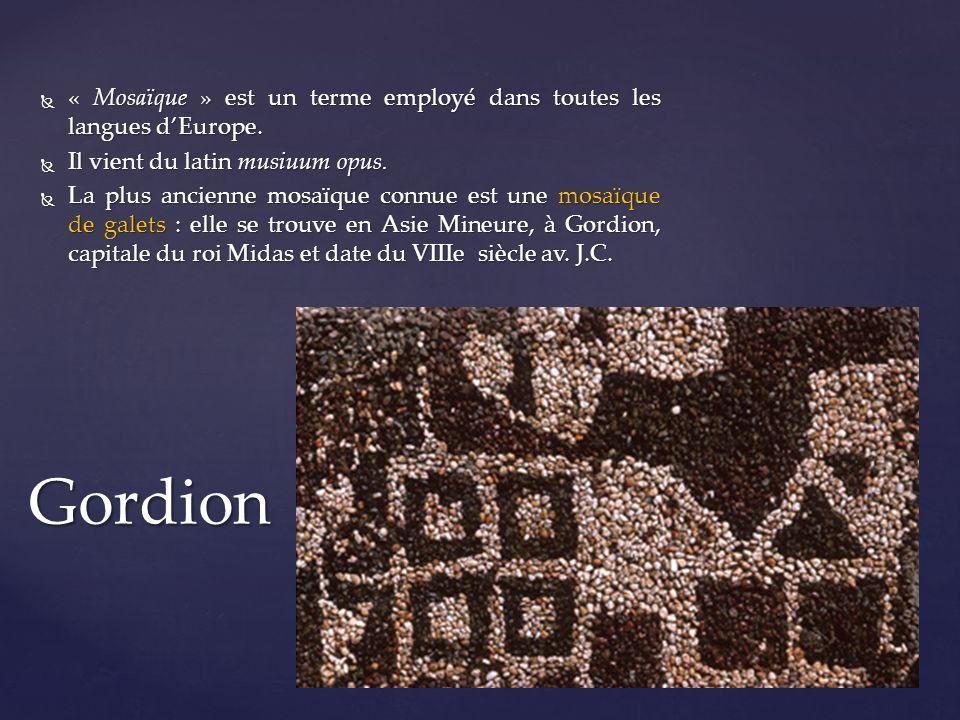 « Mosaïque » est un terme employé dans toutes les langues d'Europe.