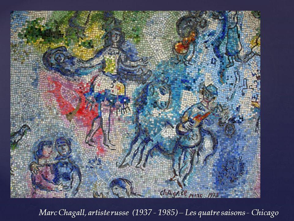 Marc Chagall, artiste russe (1937 - 1985) – Les quatre saisons - Chicago