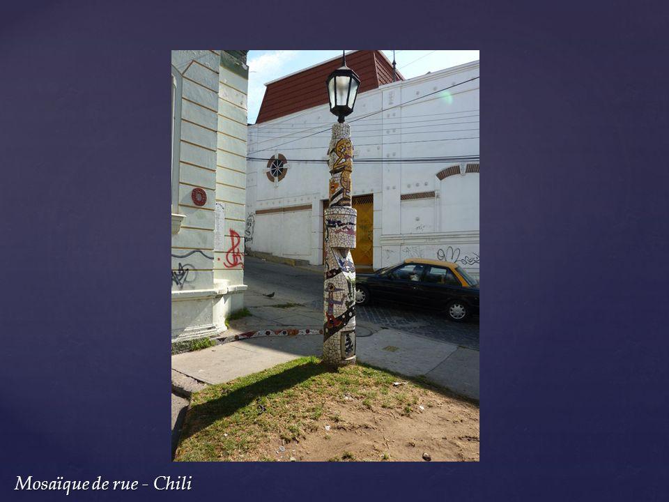 Mosaïque de rue - Chili