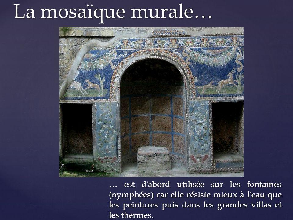 La mosaïque murale…