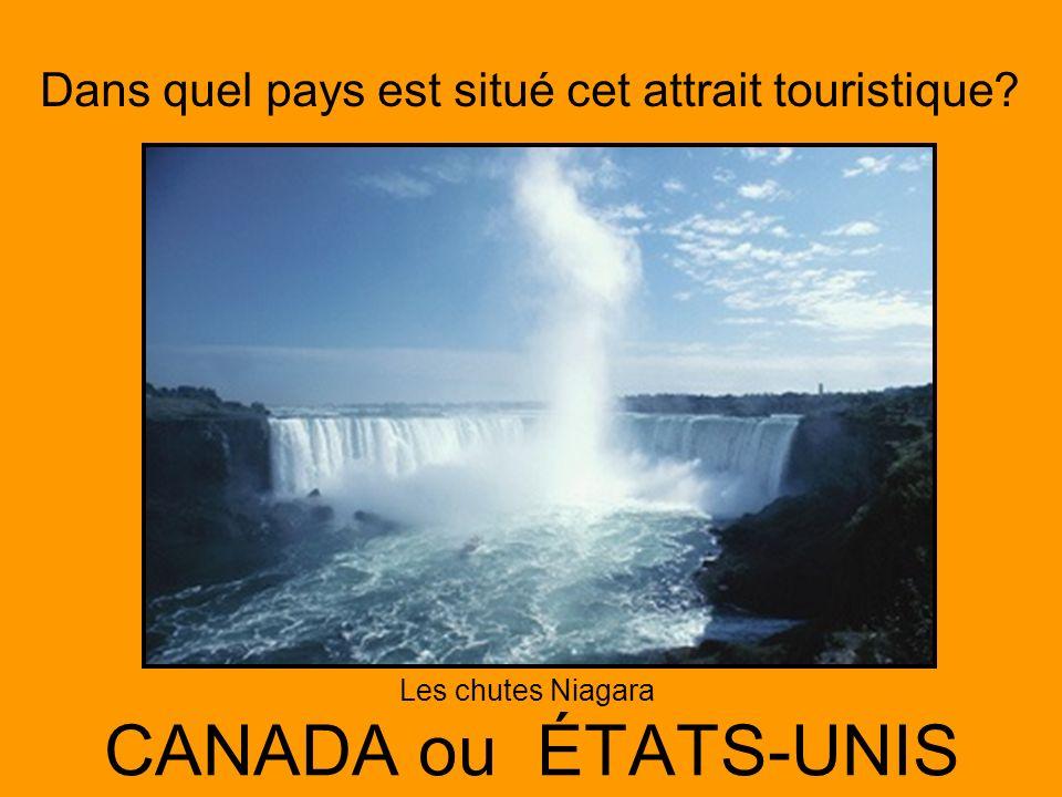 Les chutes Niagara CANADA ou ÉTATS-UNIS
