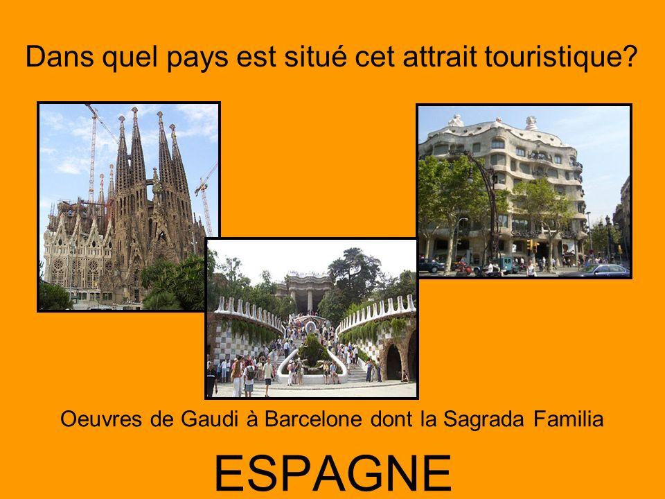 Oeuvres de Gaudi à Barcelone dont la Sagrada Familia