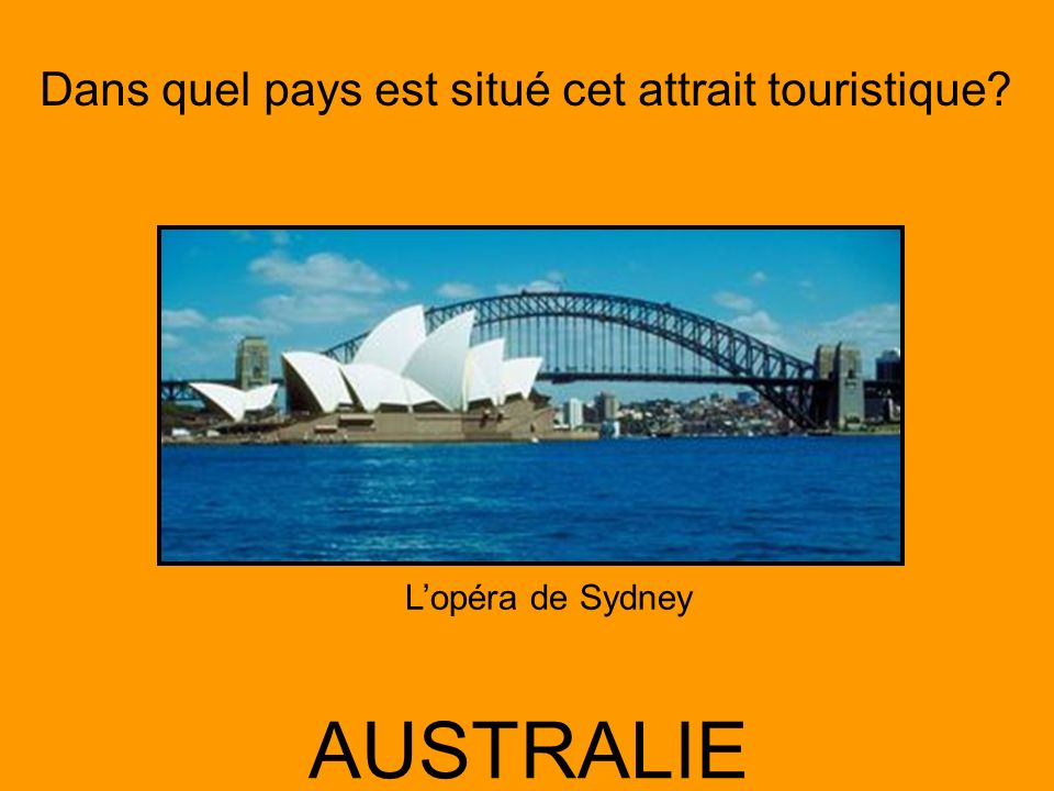L'opéra de Sydney AUSTRALIE