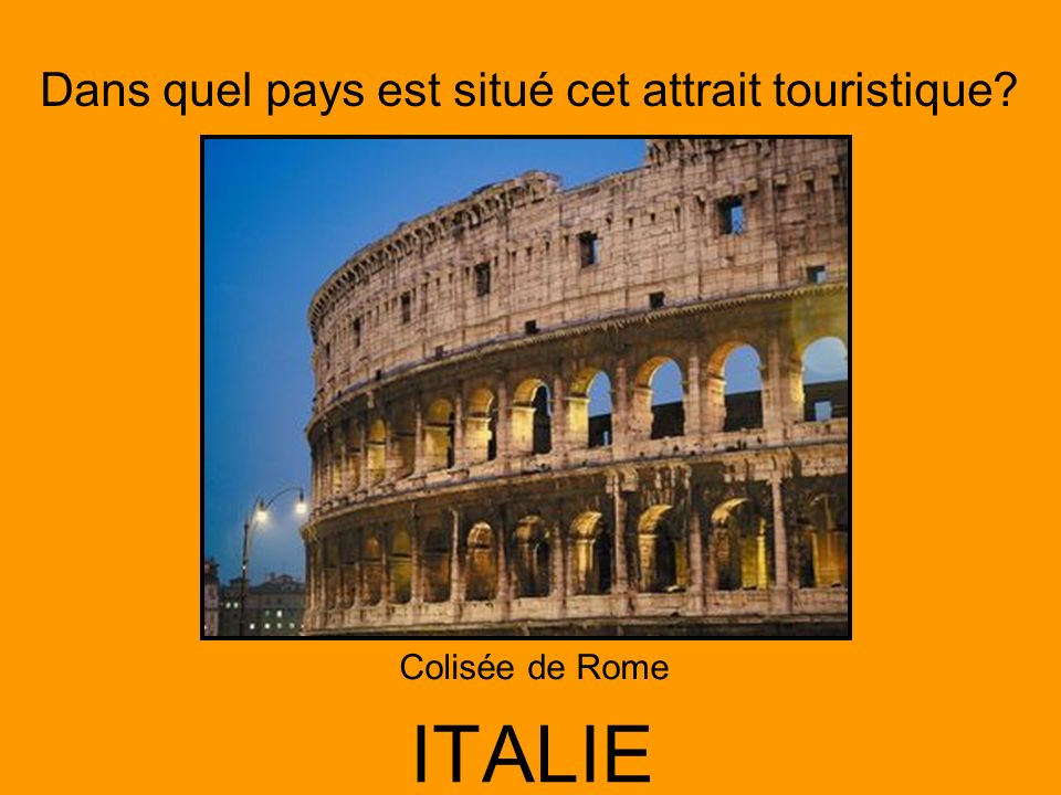 Colisée de Rome ITALIE