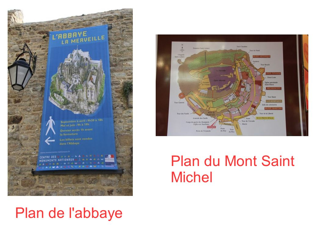 Plan du Mont Saint Michel