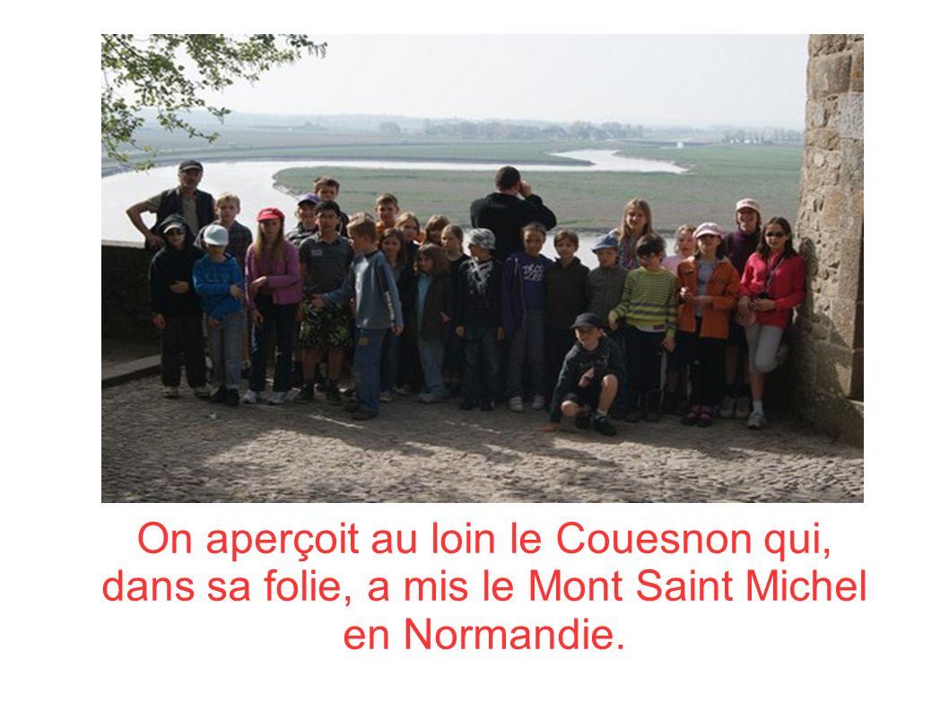 On aperçoit au loin le Couesnon qui, dans sa folie, a mis le Mont Saint Michel en Normandie.