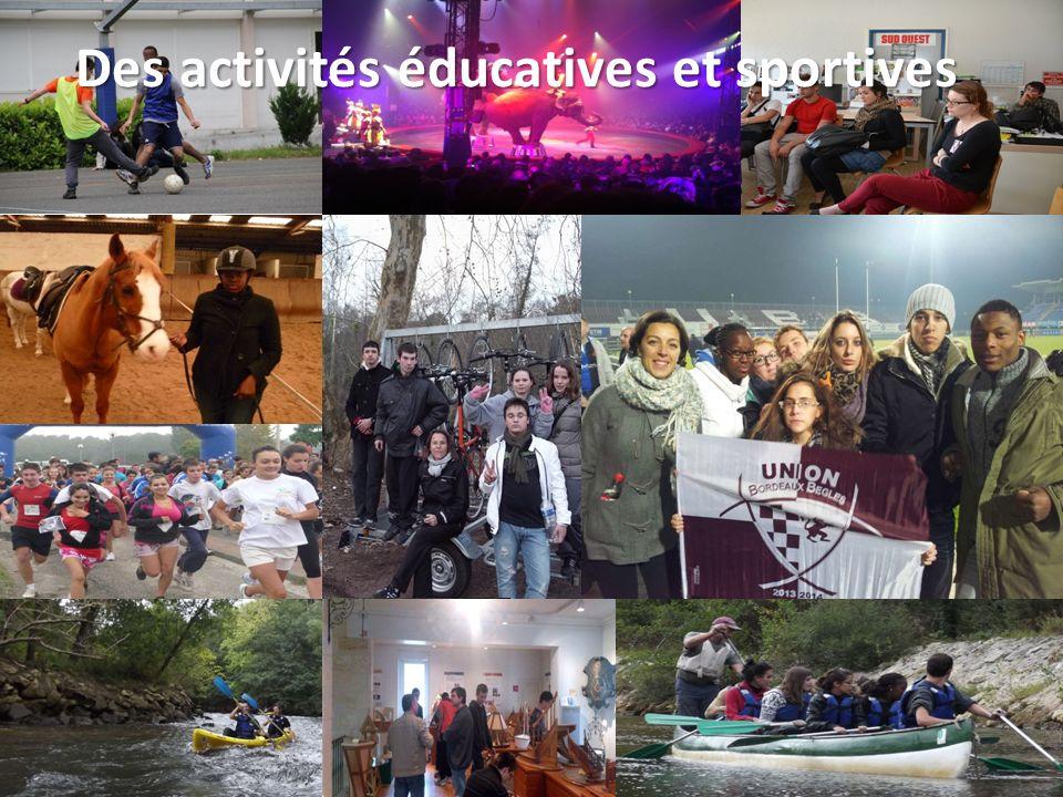 Des activités éducatives et sportives