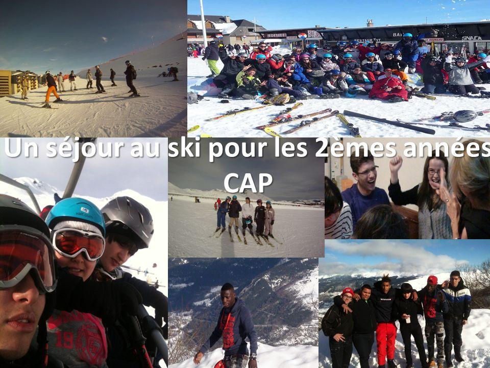 Un séjour au ski pour les 2èmes années CAP