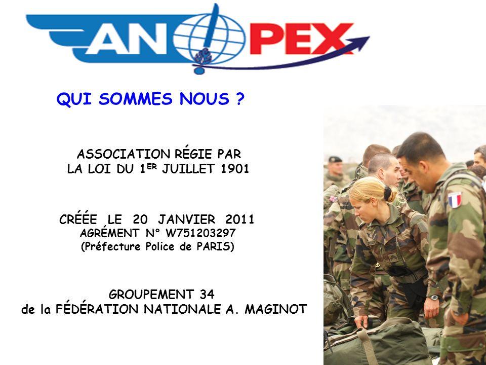 (Préfecture Police de PARIS) de la FÉDÉRATION NATIONALE A. MAGINOT
