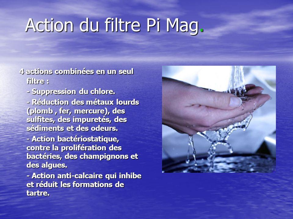 Action du filtre Pi Mag. 4 actions combinées en un seul filtre :