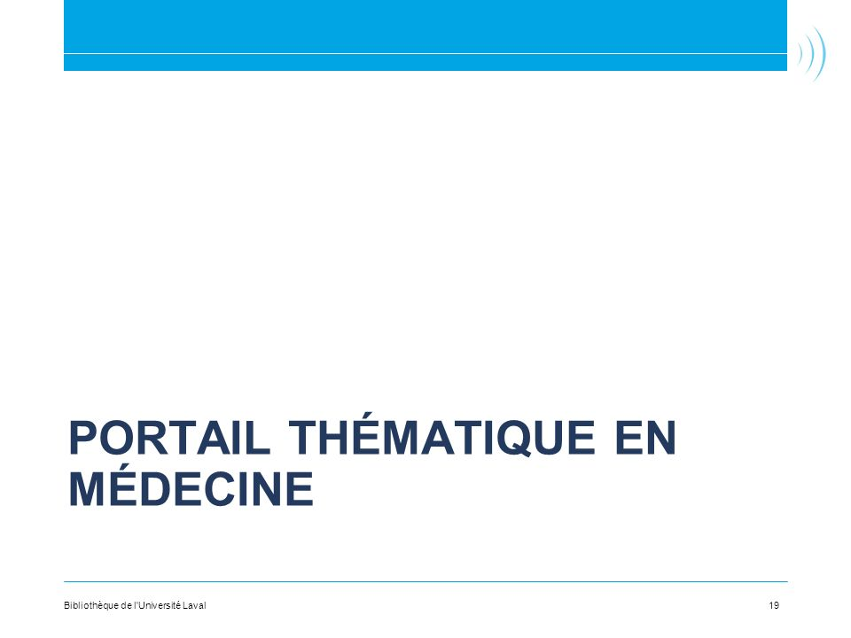 Portail thématique en Médecine