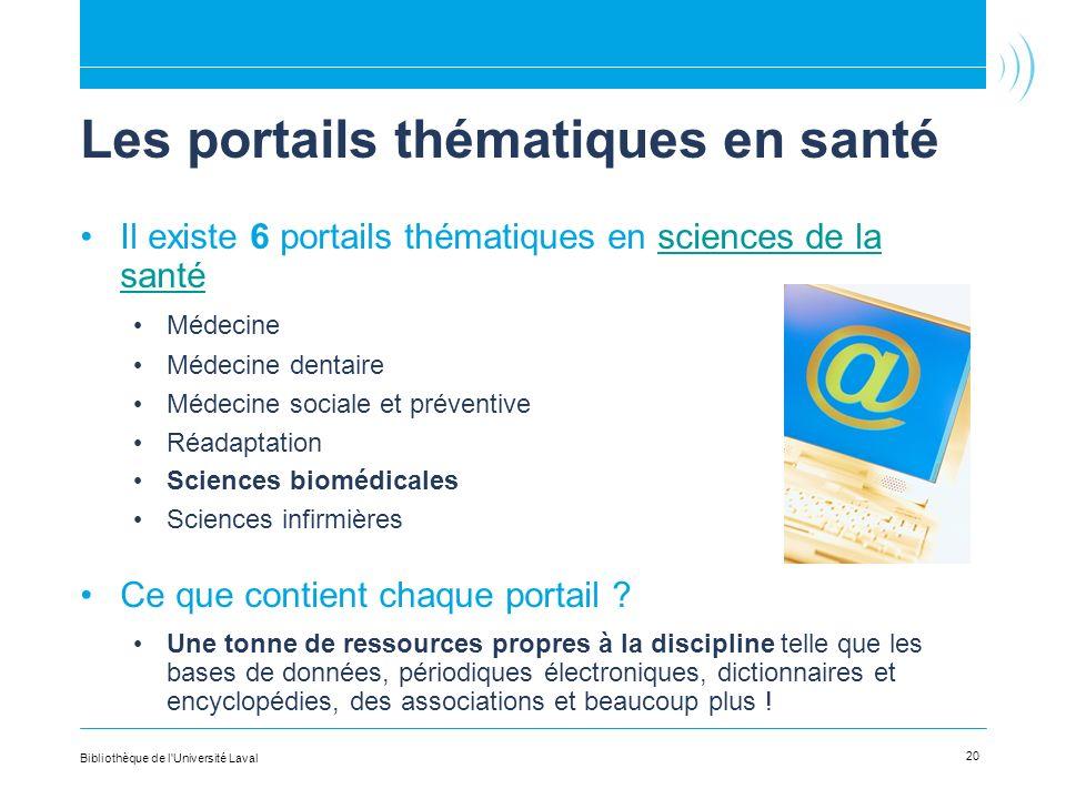 Les portails thématiques en santé