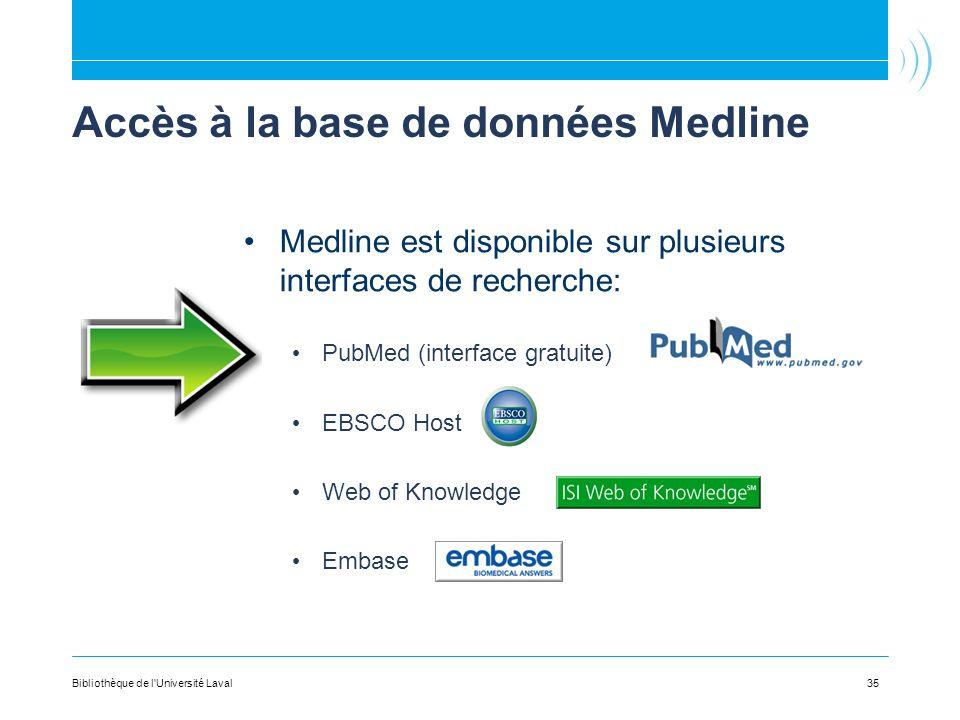 Accès à la base de données Medline