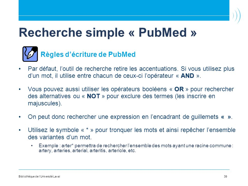 Recherche simple « PubMed »