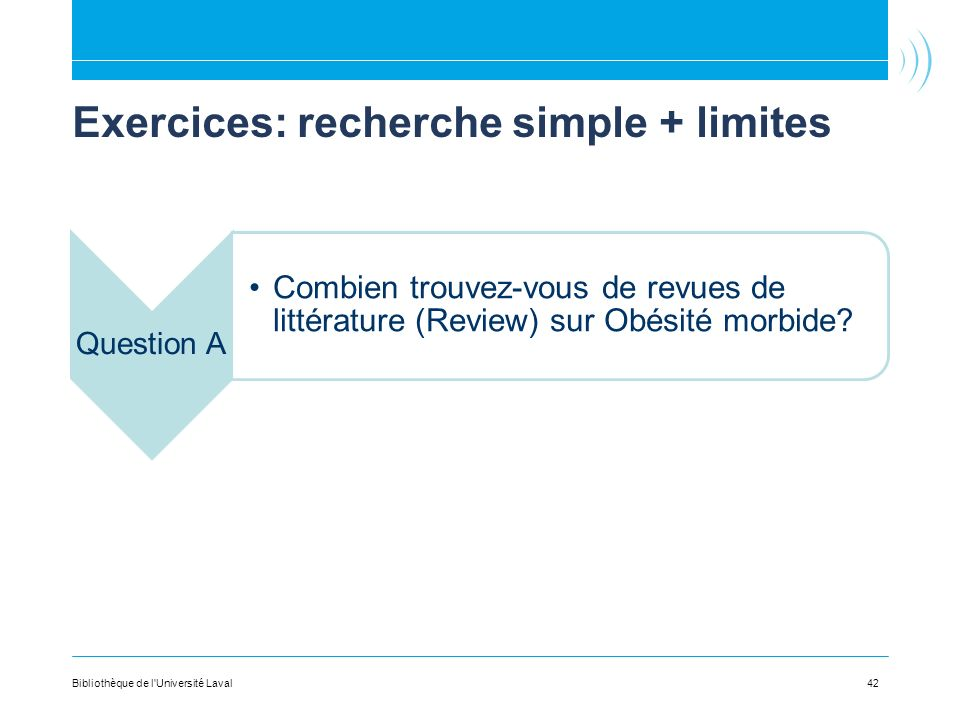 Exercices: recherche simple + limites