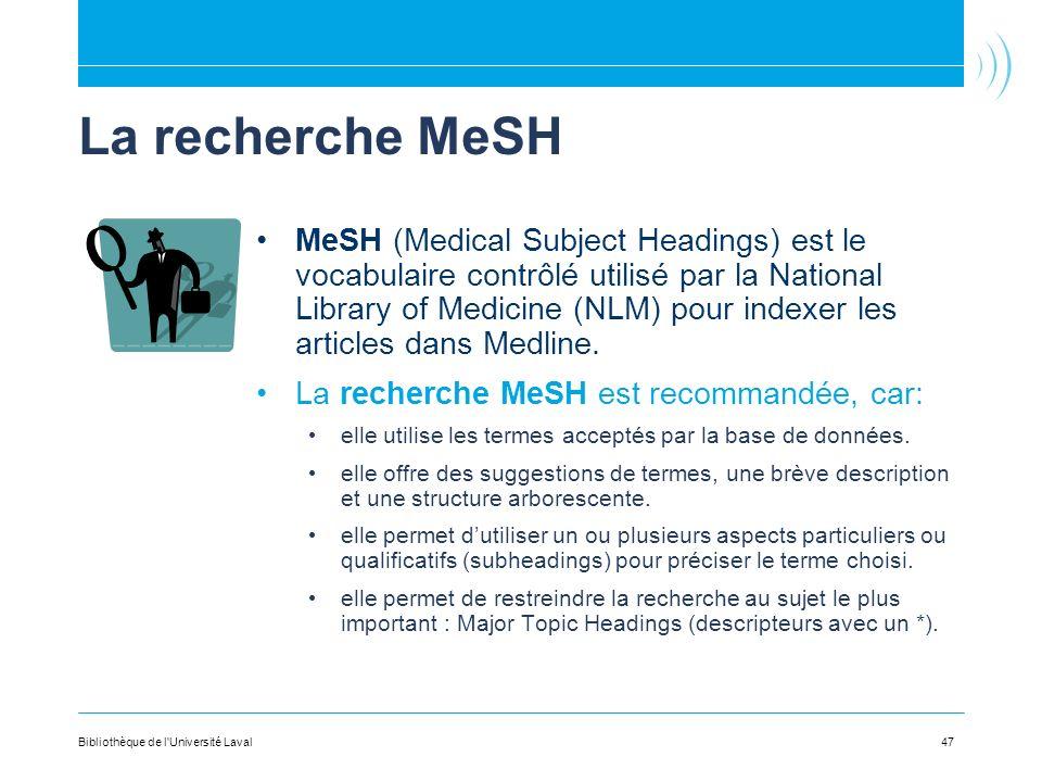 La recherche MeSH