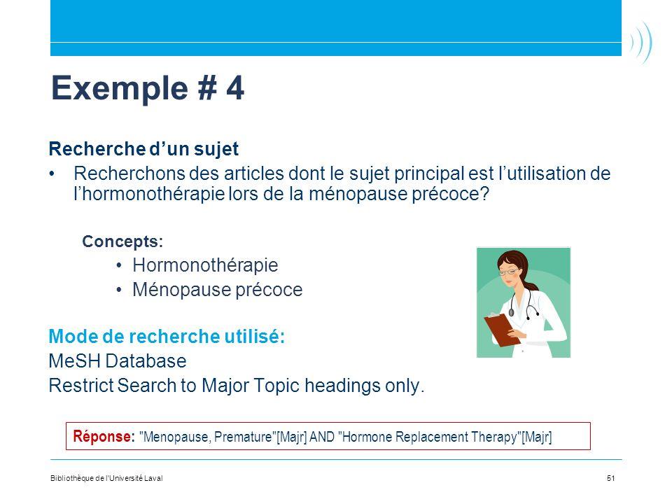 Exemple # 4 Recherche d'un sujet