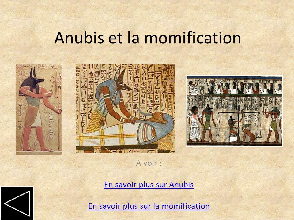 Anubis et la momification