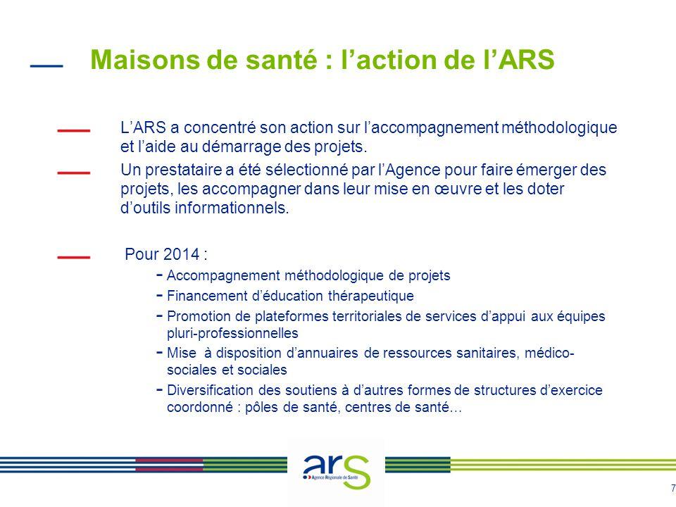 Maisons de santé : l'action de l'ARS
