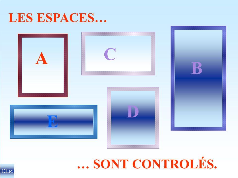 LES ESPACES… B C A D E … SONT CONTROLÉS. CLic