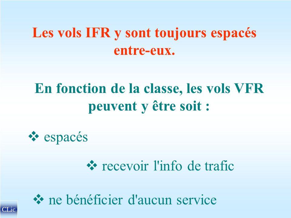 Les vols IFR y sont toujours espacés entre-eux.